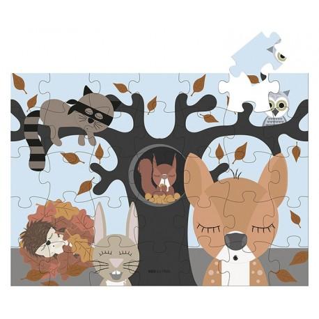 Puslespil, skovens dyr