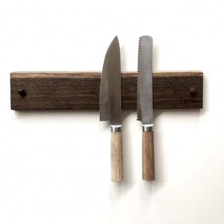 Magnet knivholder i røget eg - Dansk design