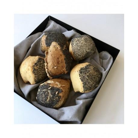 Brødbakke i sort metal, Kvadratisk 30x30cm
